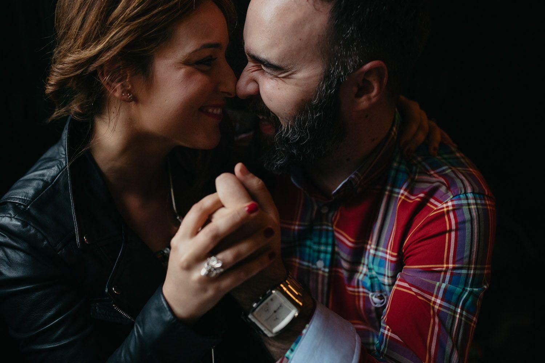 Amor - cafeteria - sesión pareja